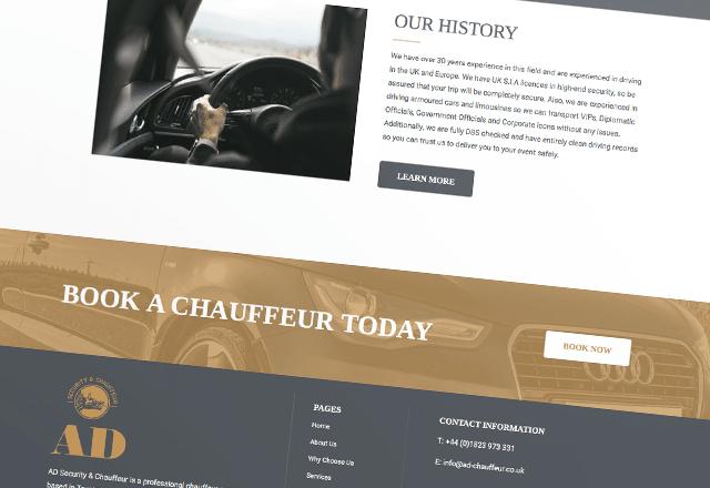 Chauffeur Business Website