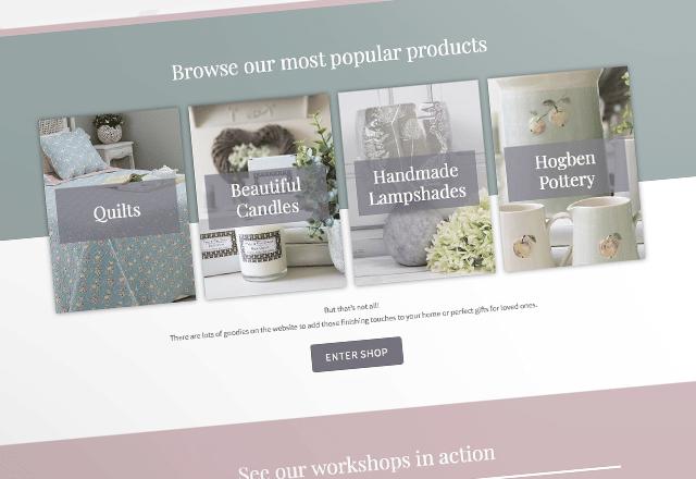 Fallow and Fern Soft Furnishings e-Commerce Website