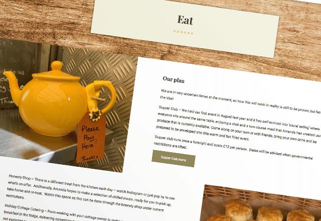 Yellow Door Cottage Farm shop Website