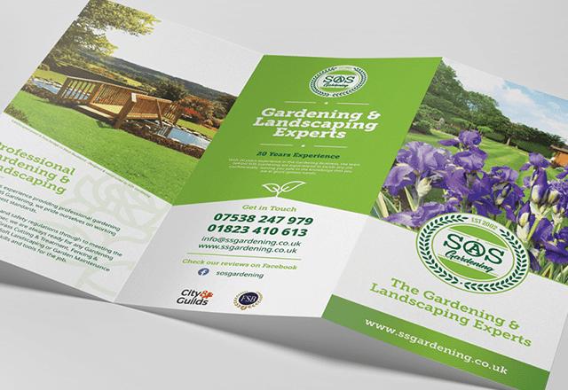 SOS Gardening Tri-fold Services Leaflet