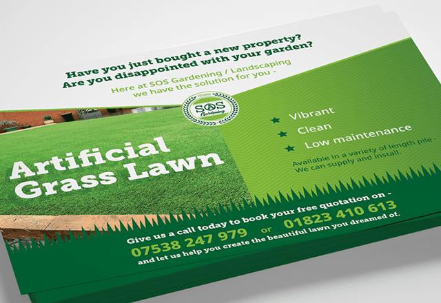 SOS Gardening Service Postcards