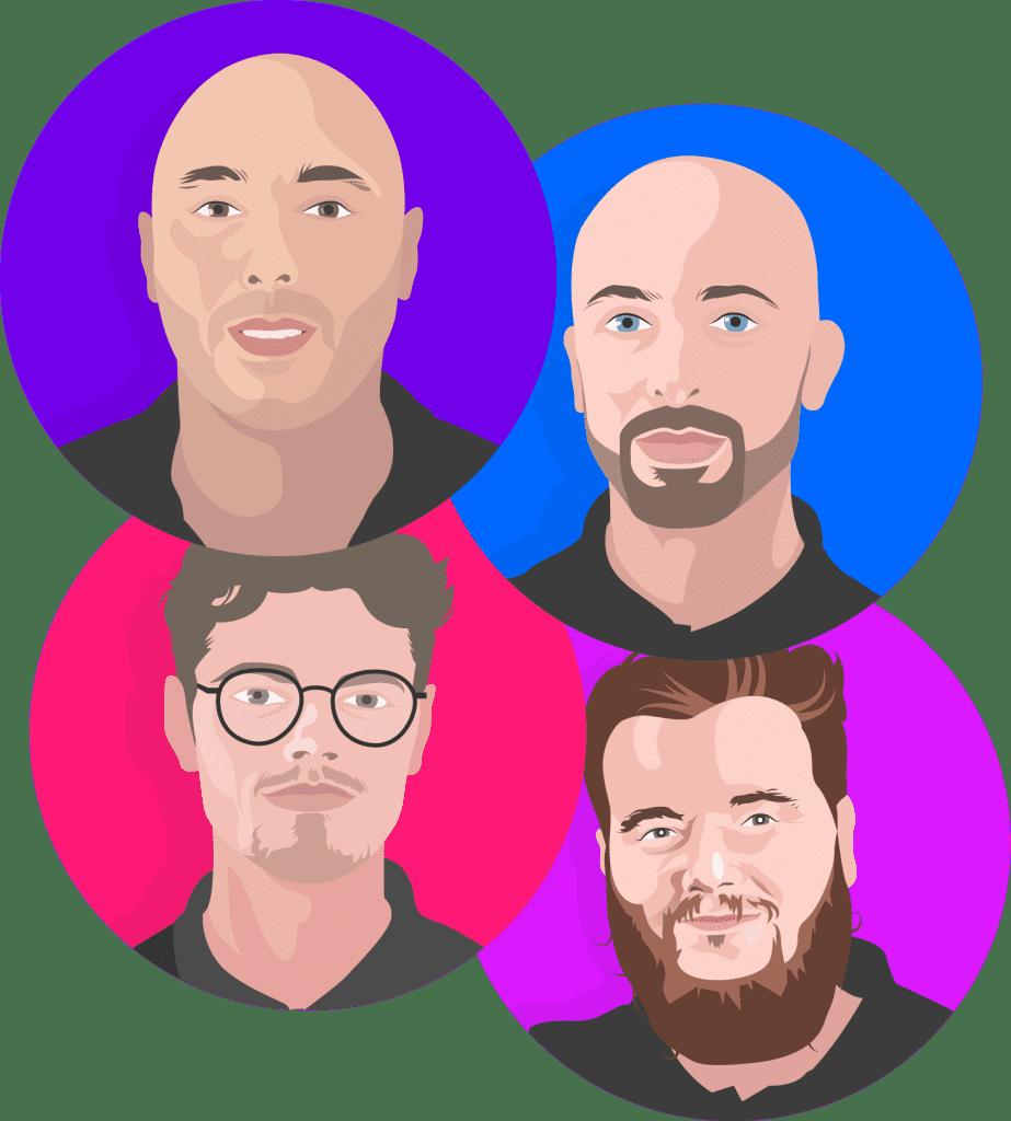 Team Profile Illustrations