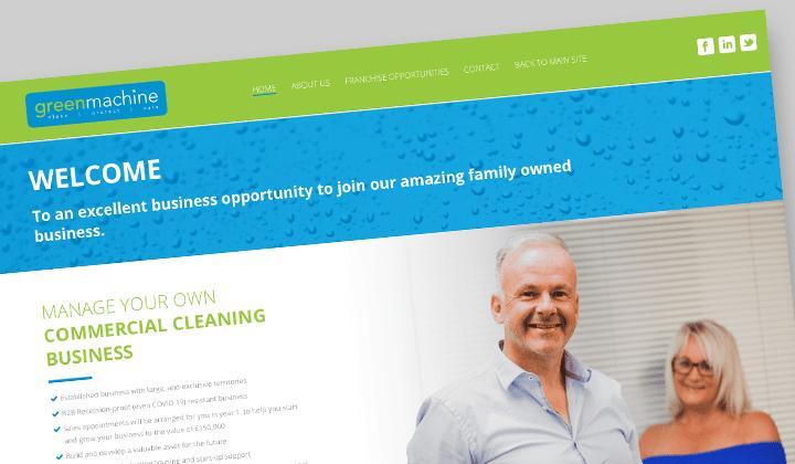 Green machine - Franchise Website