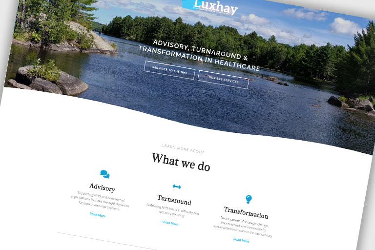 Luxhay Responsive Advisory Healthcare Website