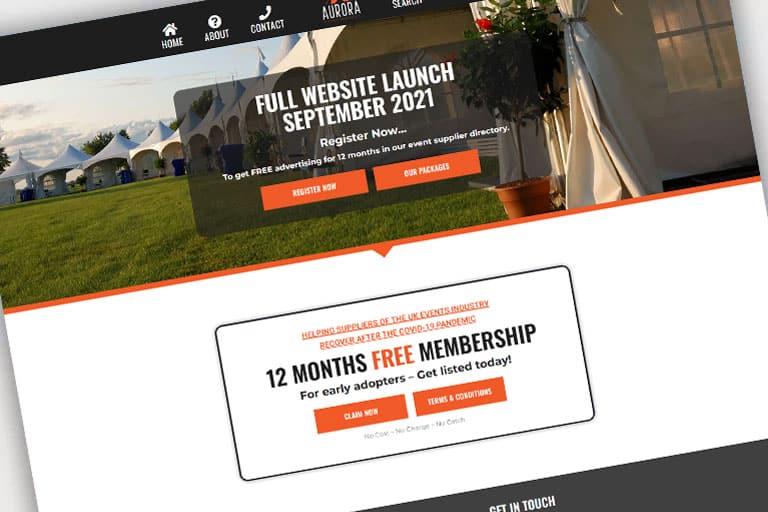 Responsive Event Services Website